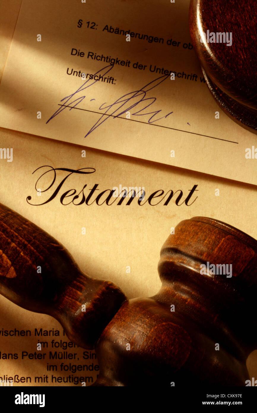 Testament Stock Photo