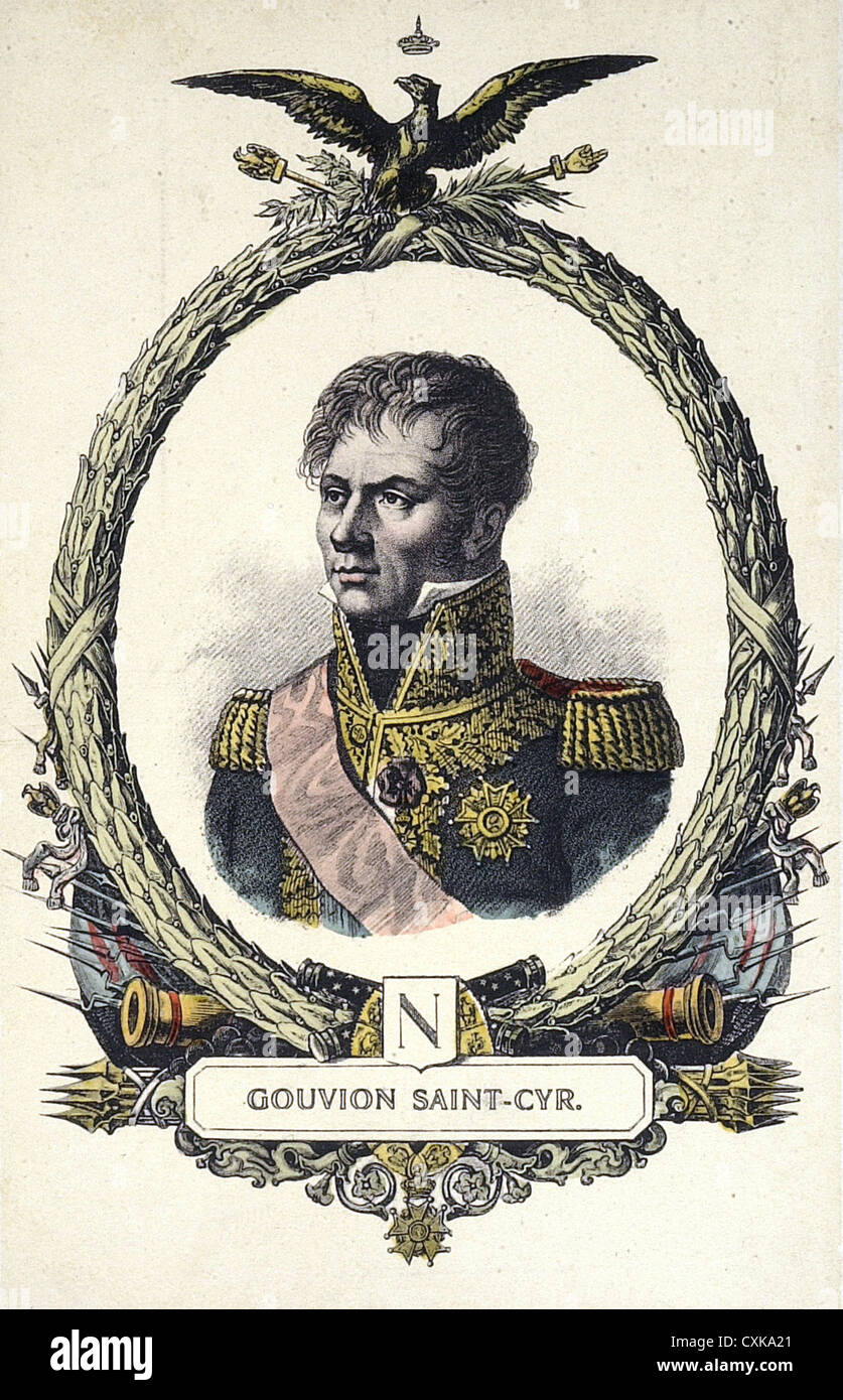 Laurent de Gouvion Saint-Cyr 1764 - 1830 French engraving XIX th Century - Stock Image