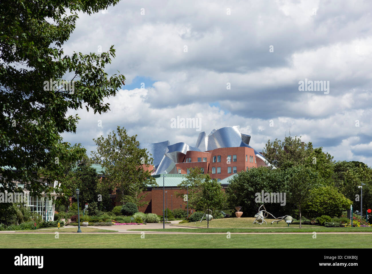 Frank Gehry designed Peter B Lewis Building, Case Western University School of Management, University Circle district, - Stock Image