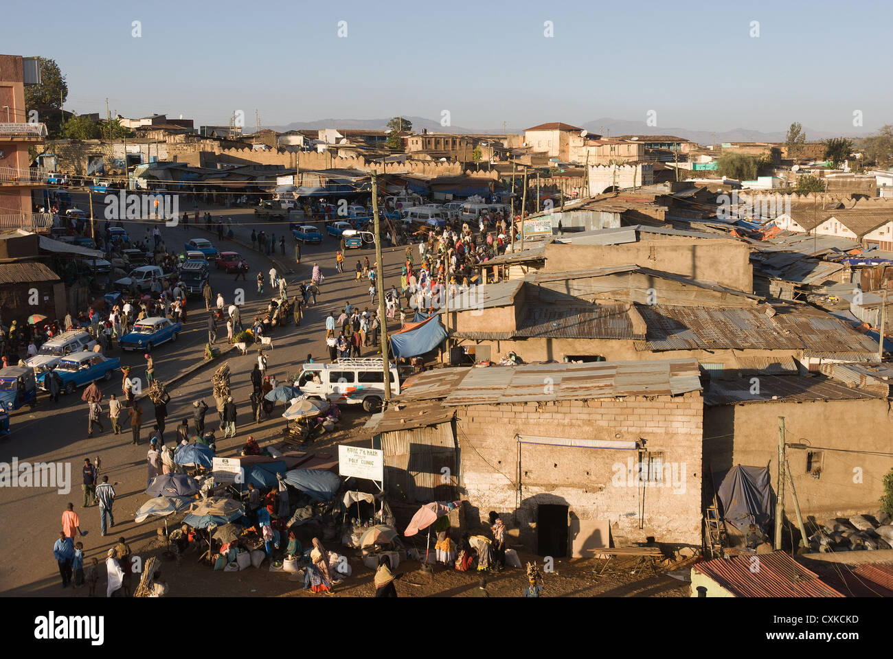 Elk200-4040 Ethiopia, Harar, city view - Stock Image