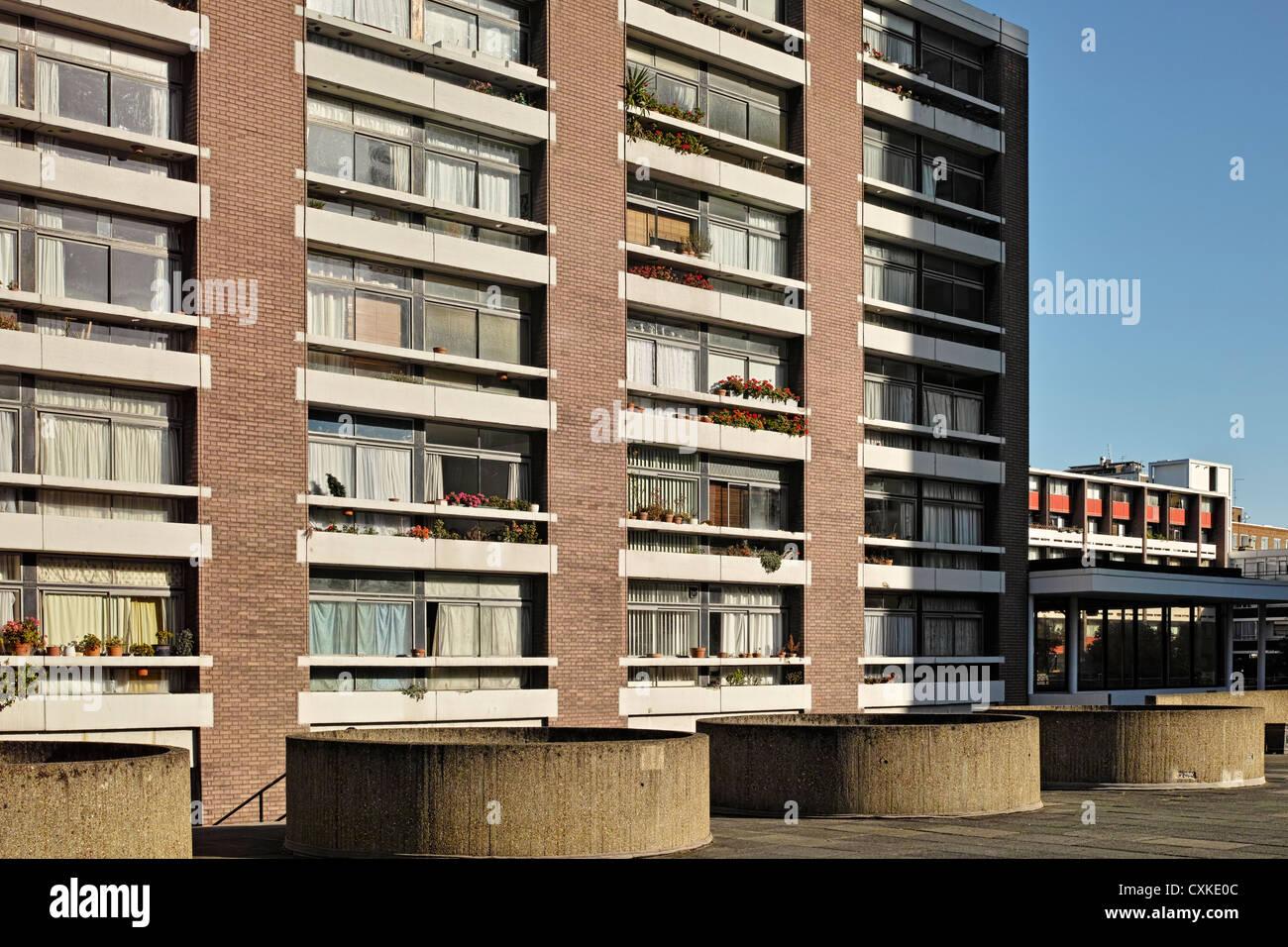 Golden Lane Estate Social Housing - Stock Image