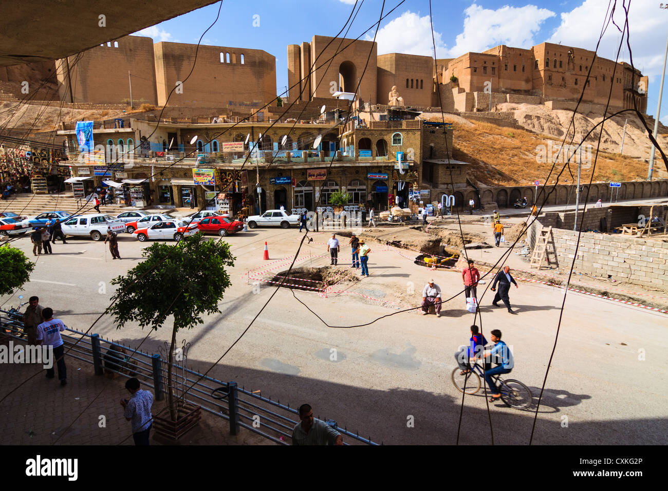 Erbil Citadel . Kurdish Iraq - Stock Image