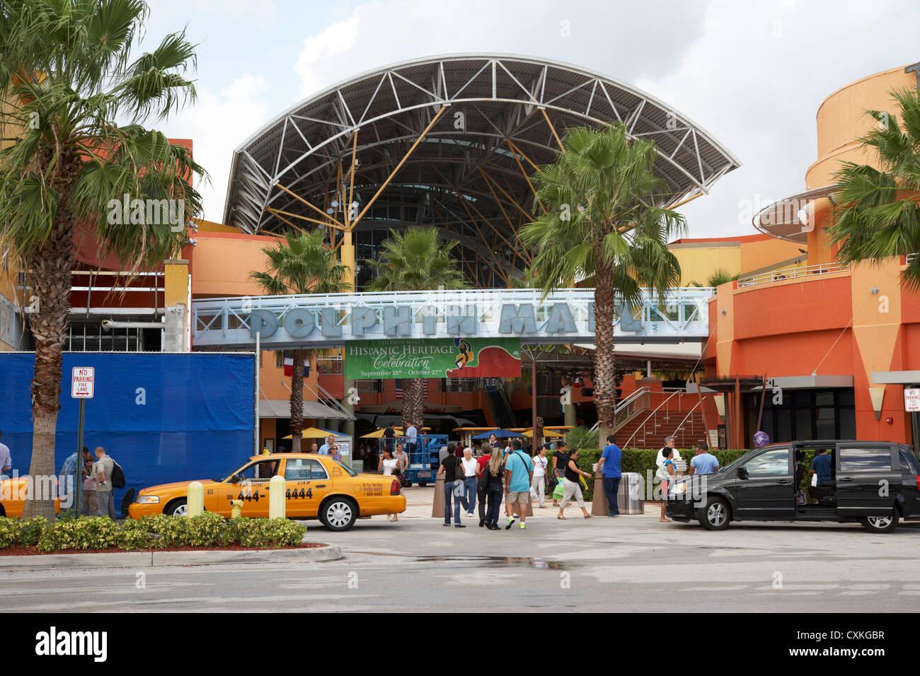 The Dolphin Mall Shopping Centre Inmi Florida Usa Stock Image