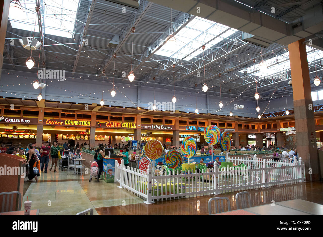 Food Court In The Dolphin Mall Shopping Centre Inmi Florida Usa Stock Image