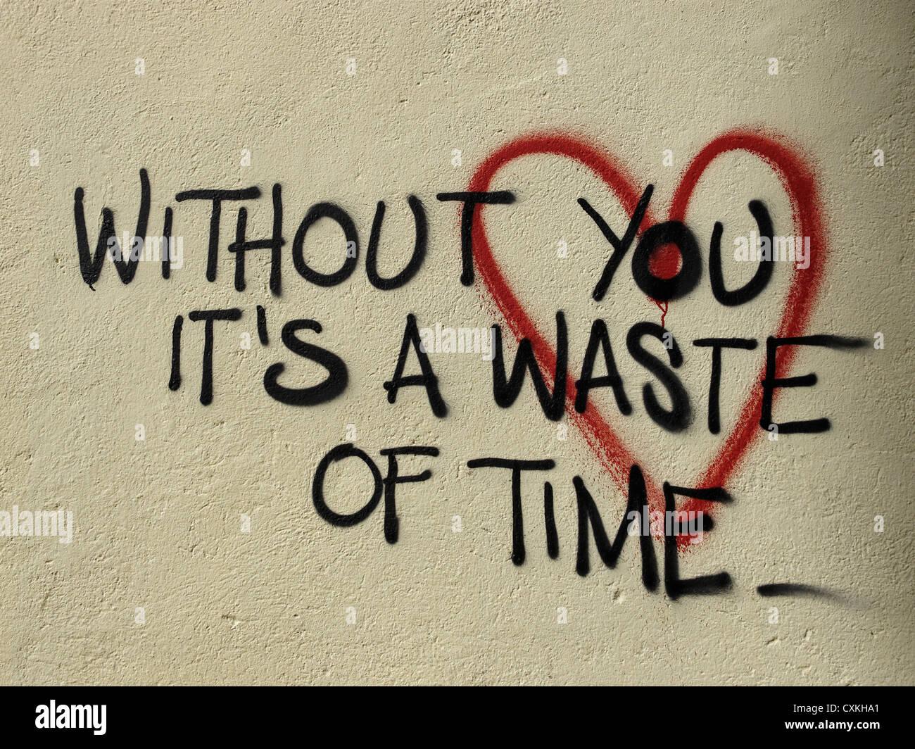 Romantic Graffiti Love