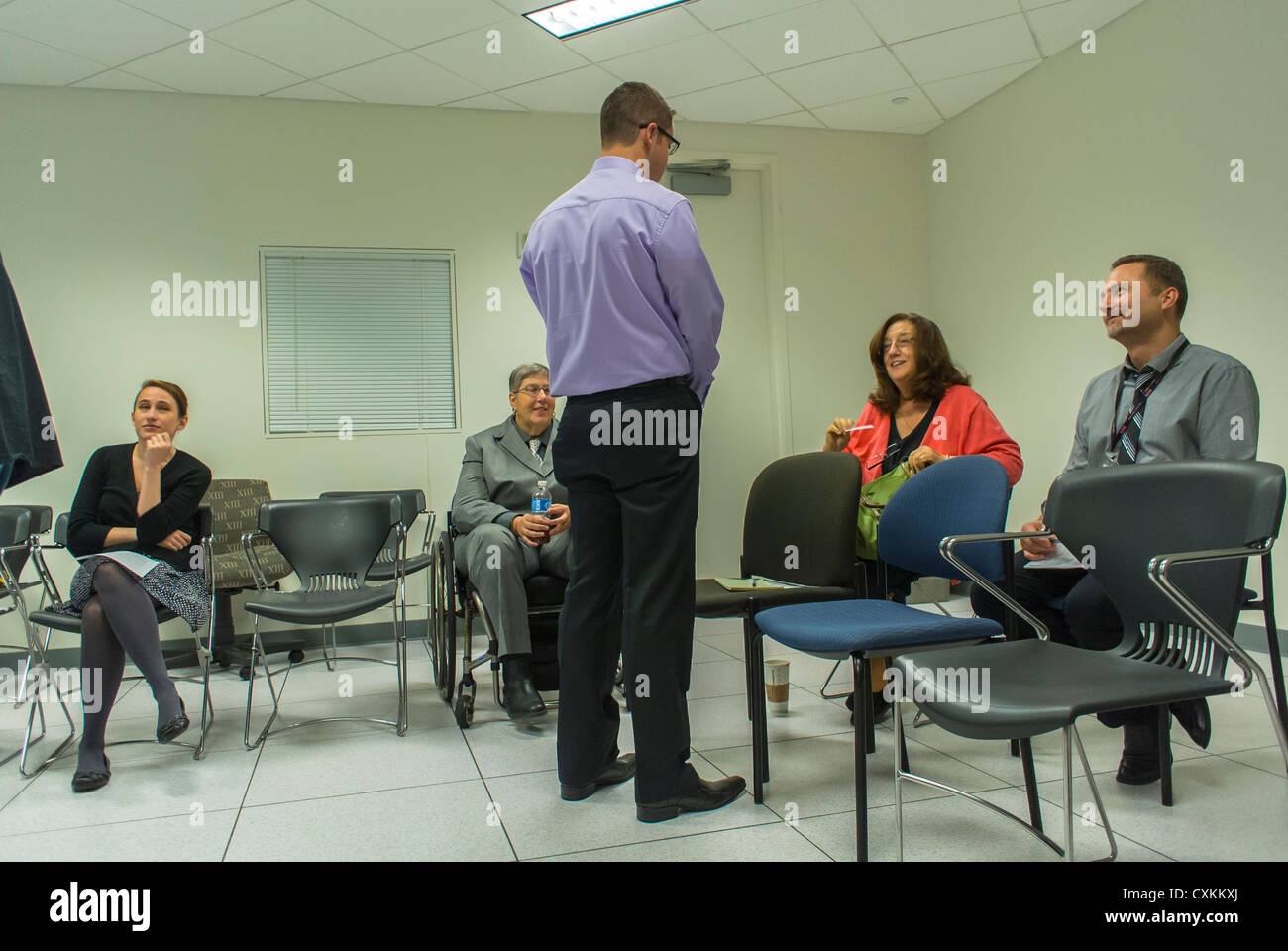New York, AIDS Association, Gay Men's Health Crisis (GMHC), Meeting, Obamacare, Affordable Care Act, Discussion - Stock Image