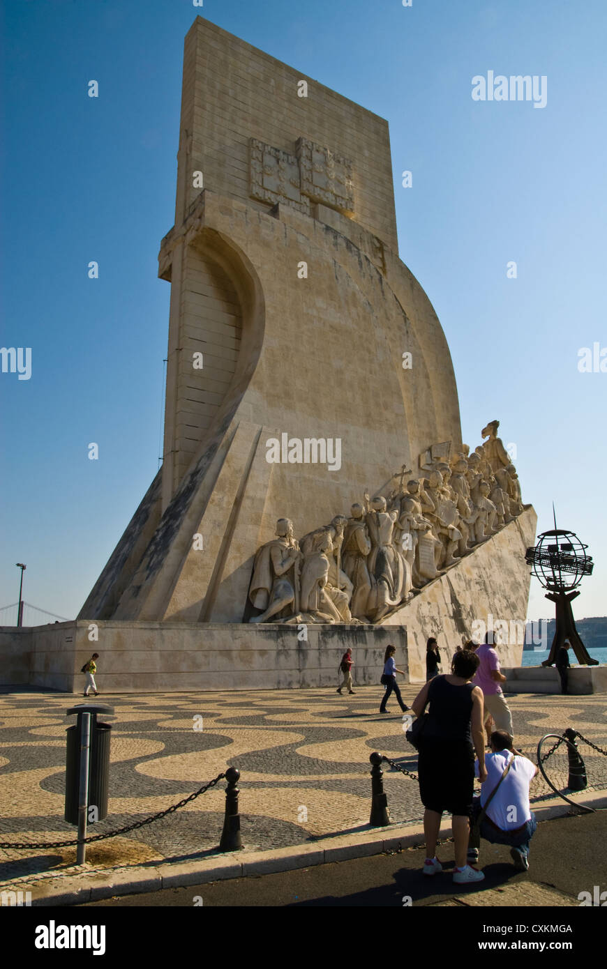 Monument to discoveries belem lisbon portugal europe - Stock Image