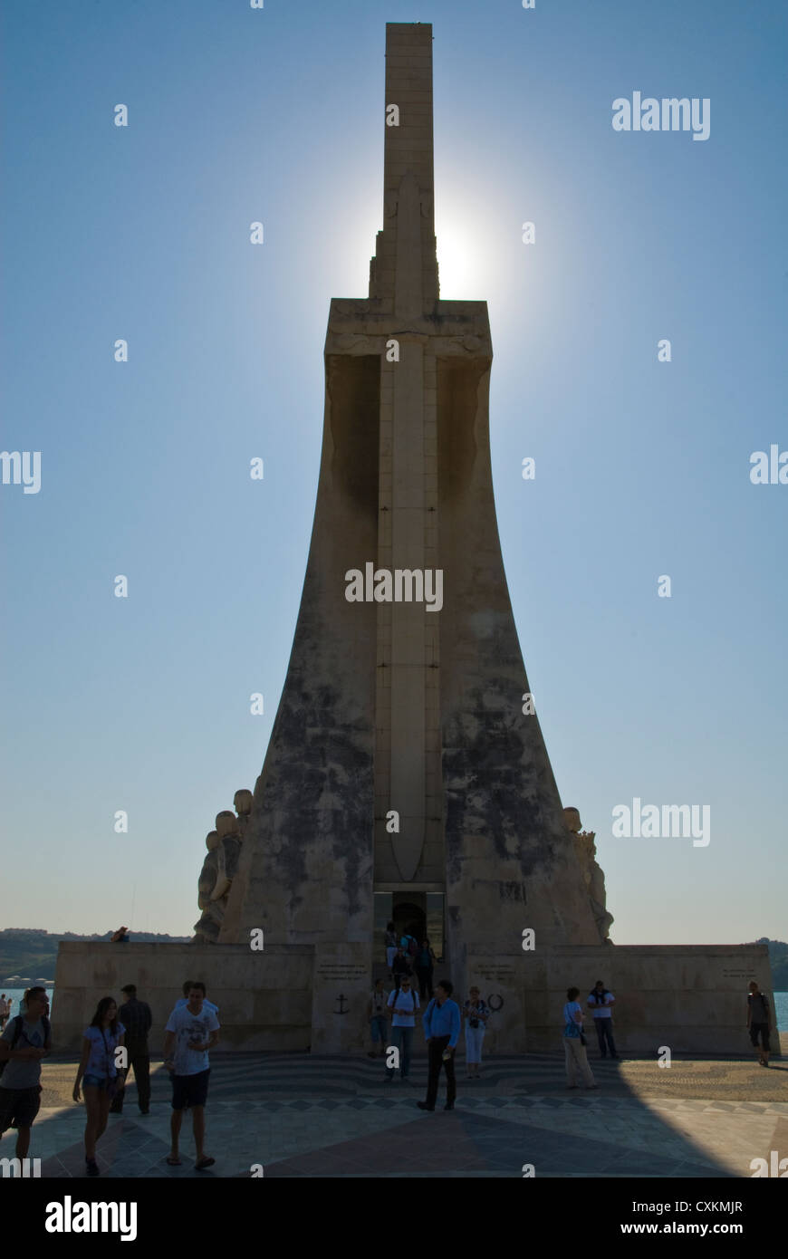 Monument to discoveries lisbon portugal europe - Stock Image