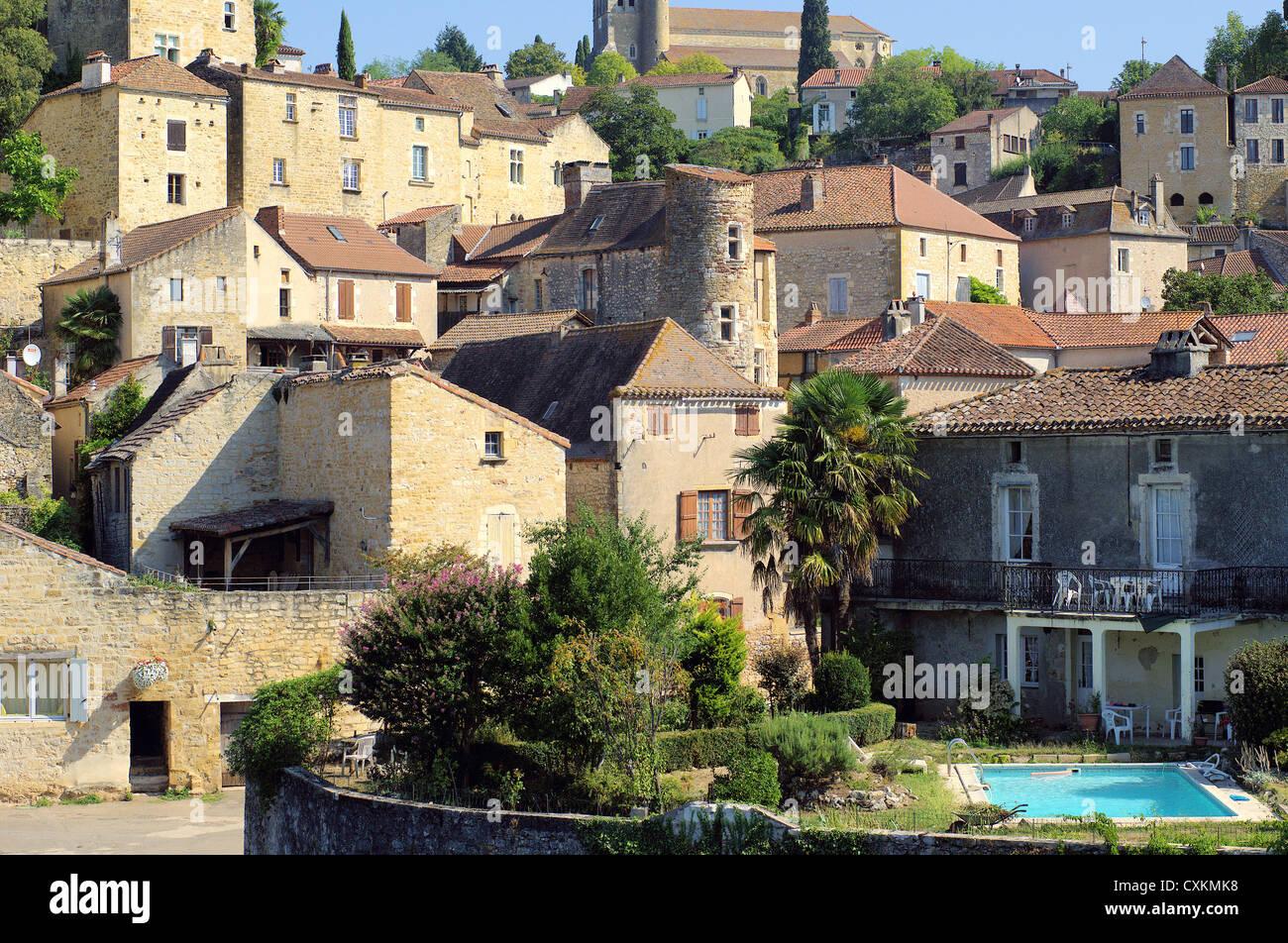 Village Puy i'Evegue Lot et Garonne France - Stock Image