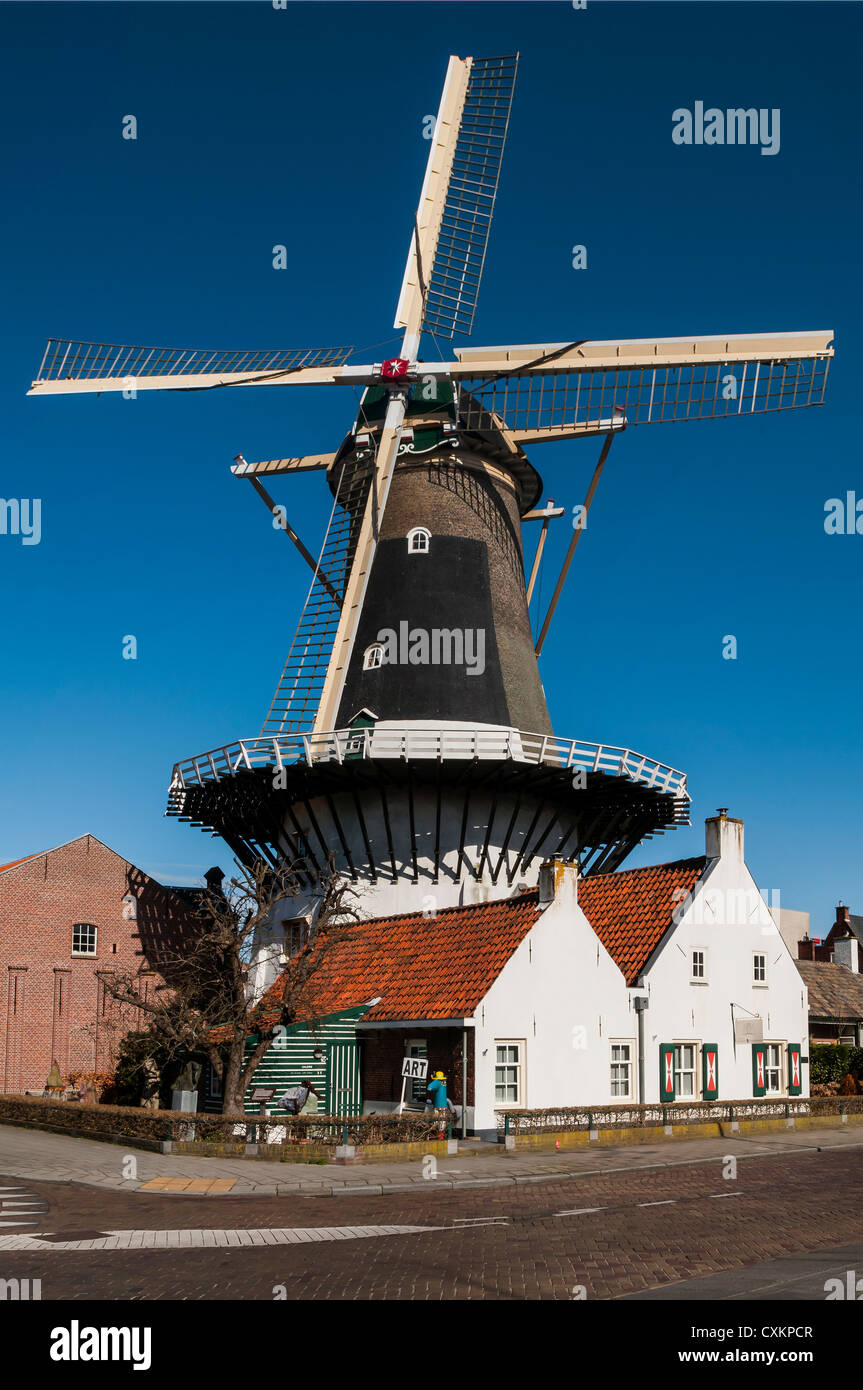 Windlust Molen, Wassenaar, Zuid Holland, The Netherlands - Stock Image