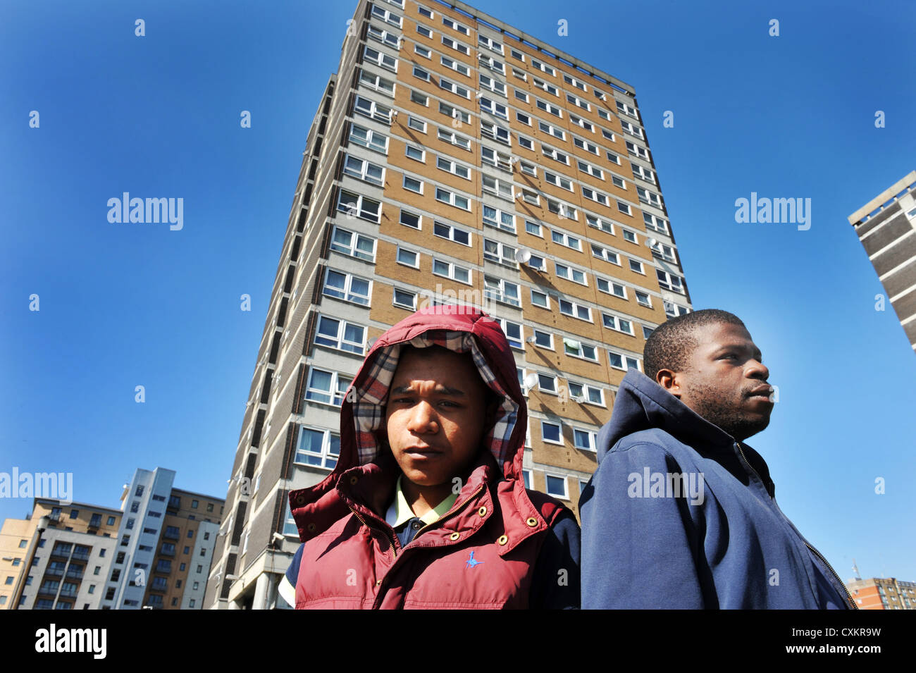 Young Unemployed Youth Leeds UK - Stock Image