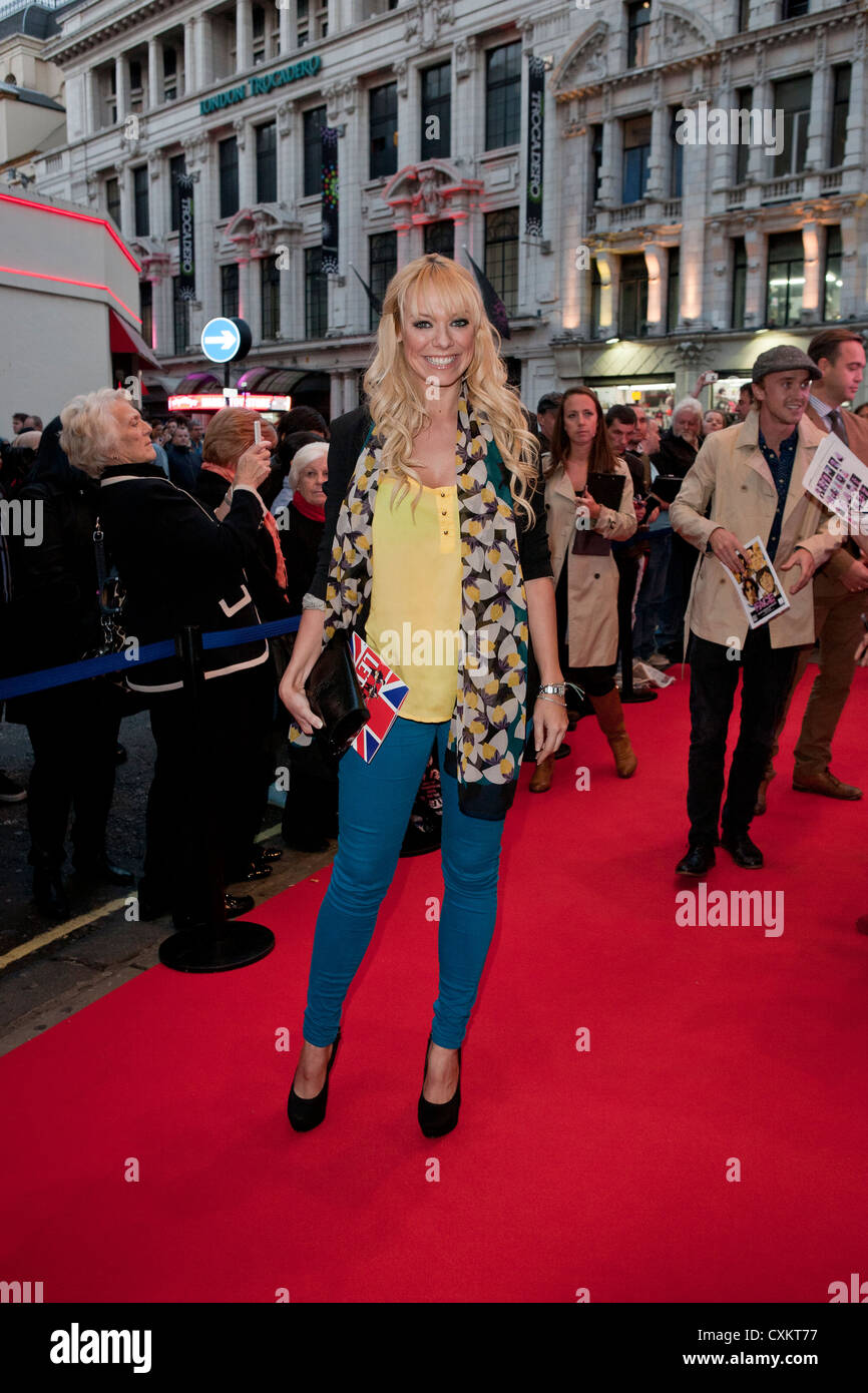 London, UK, 24/09/2012,  Liz McClarnon was attending 'Let It Be - Press Night ' at the Prince of Wales Theatre, - Stock Image