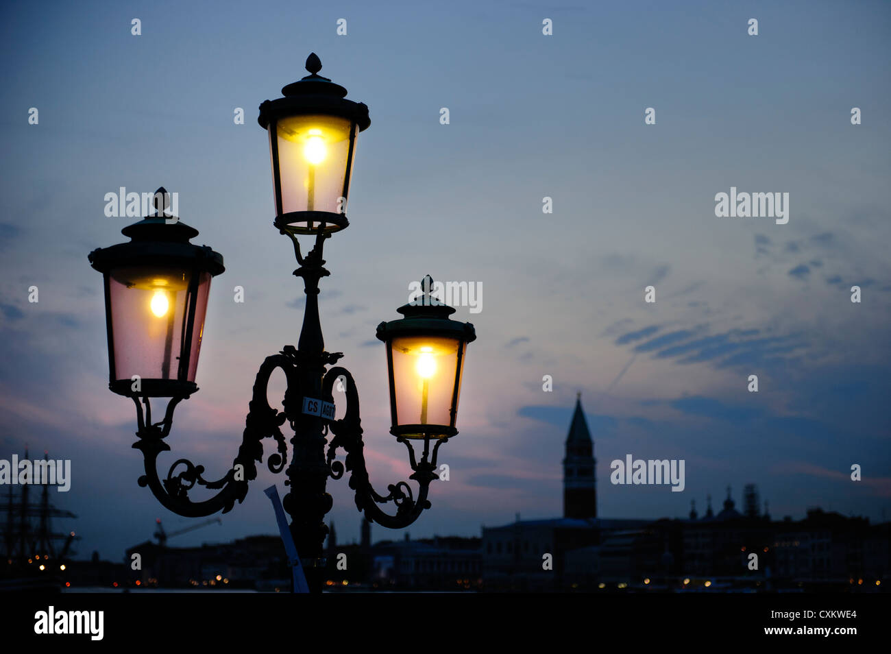 street lamp venice italy stock photo 50838876 alamy