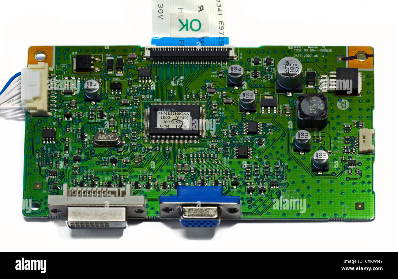 Samsung Computer Monitor PCB Stock Photo: 50839095 - Alamy