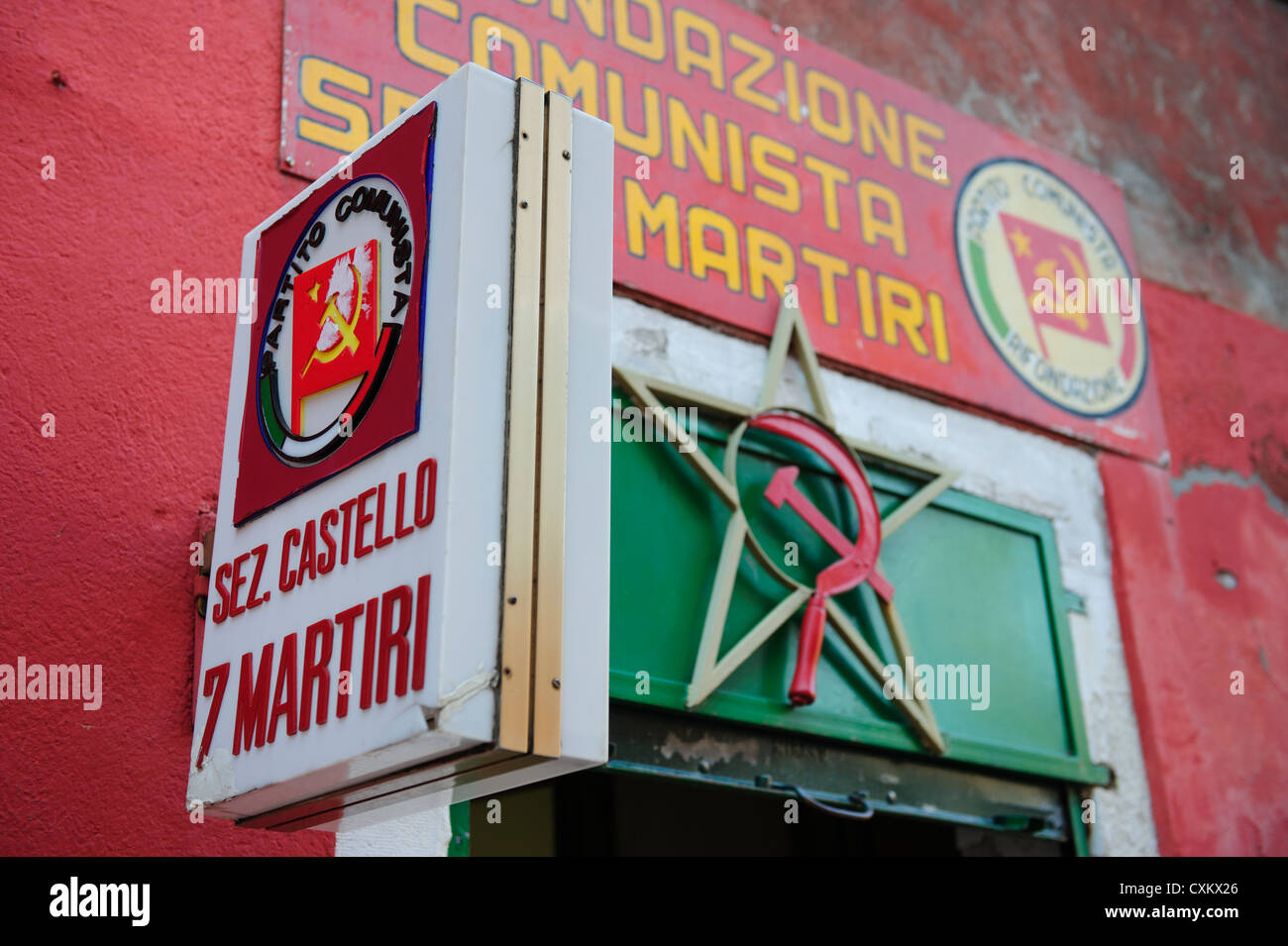 Italian Communist Party Office, Castello District, Venice, Italy. - Stock Image