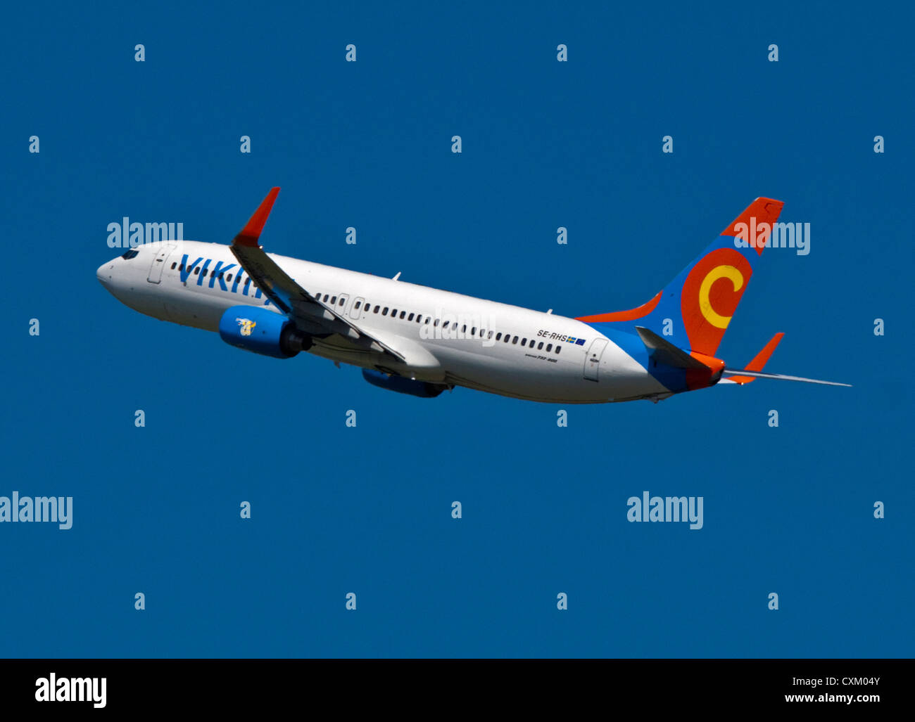 Viking Airlines Boeing 737 Aircraft, Gatwick Airport, Sussex, England - Stock Image