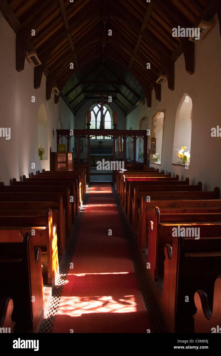 Empty Interior Small Country Church