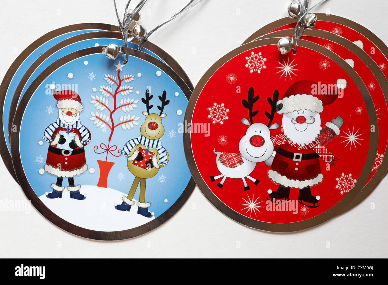 luxury Christmas gift tags with Santa Claus Father Christmas Stock ...