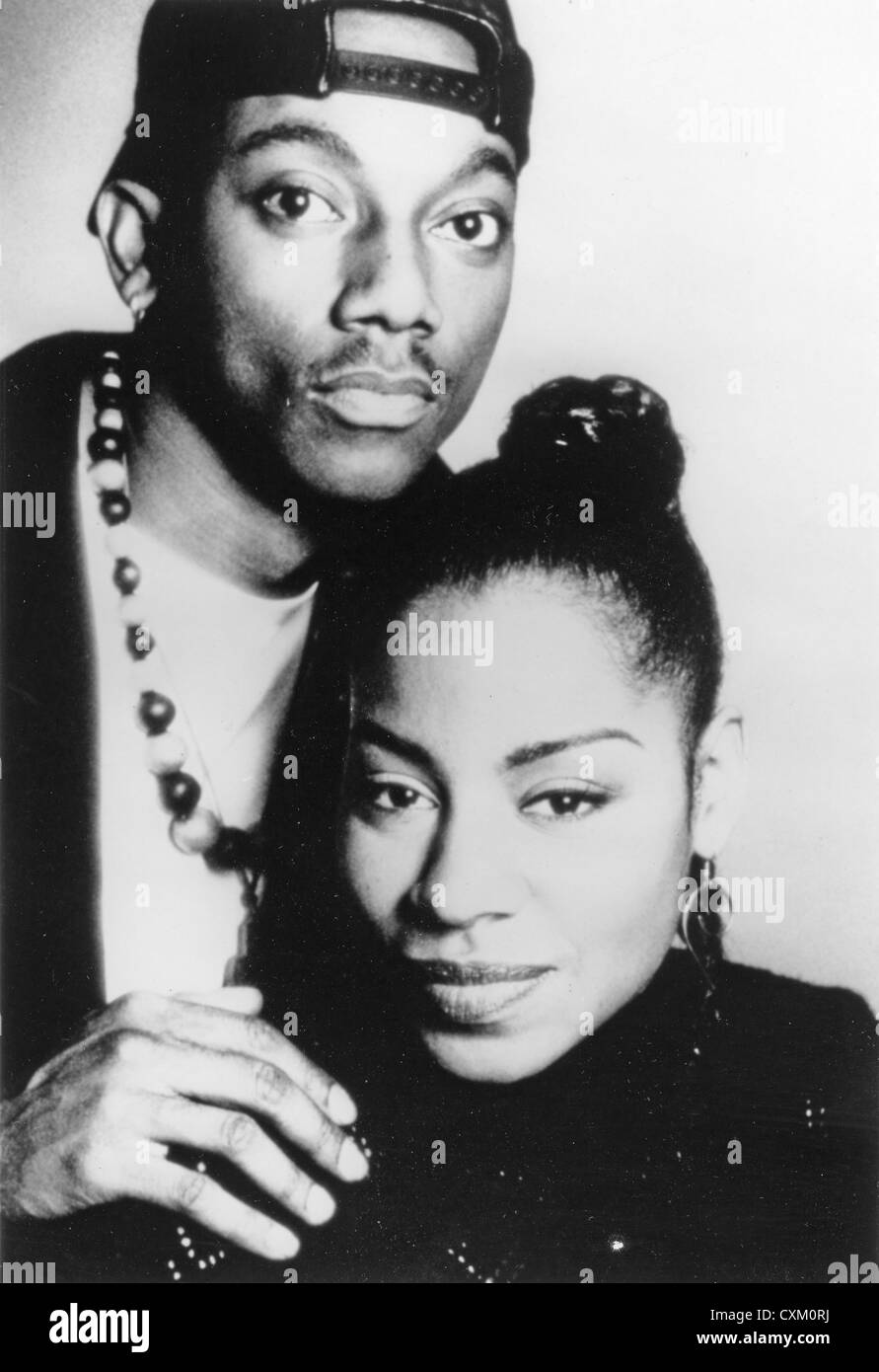 CULTURE BEAT Promotional photo of Euro-pop duo Tania Evans and Jay Supreme - Stock Image