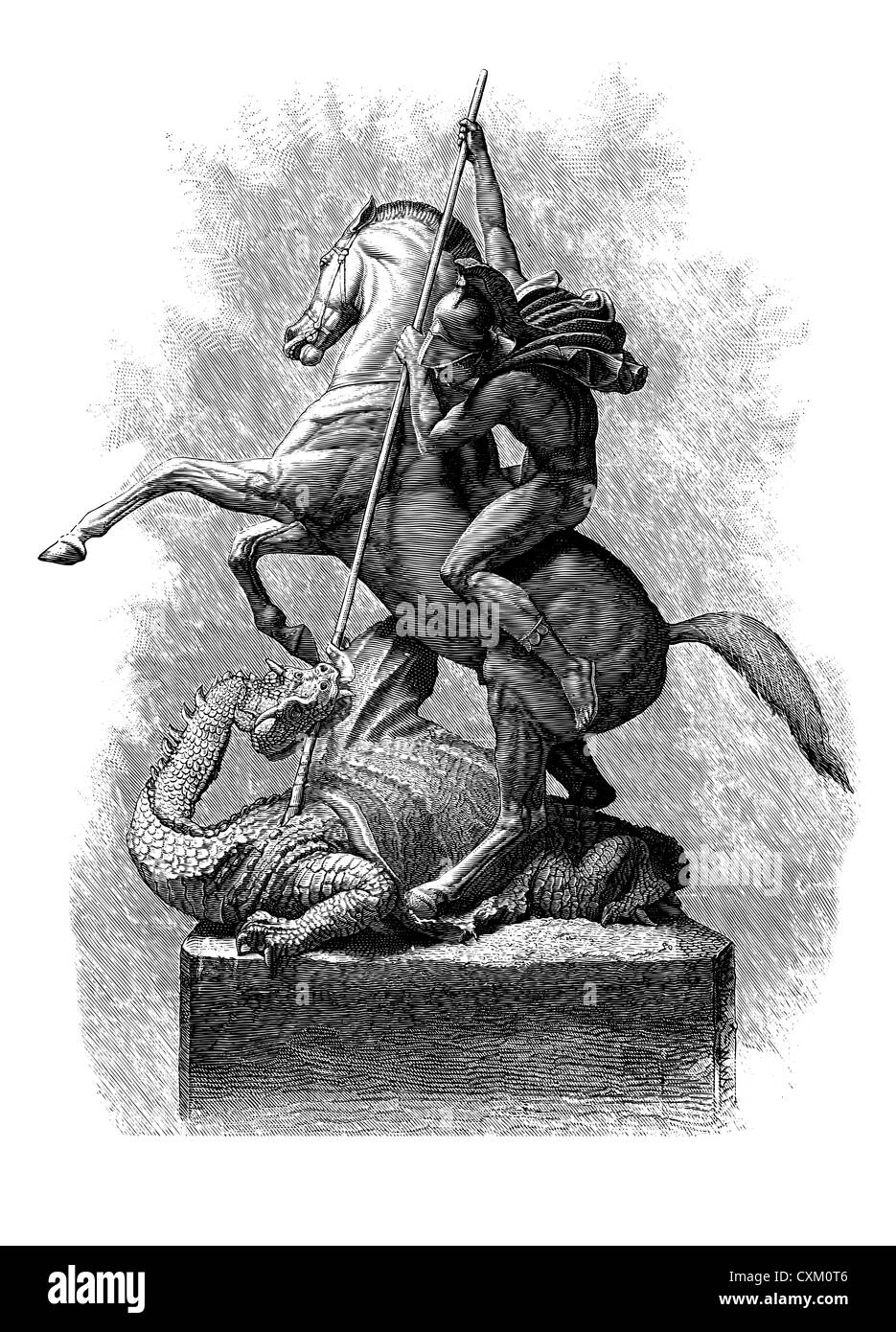 St. George and the Dragon, England. - Stock Image