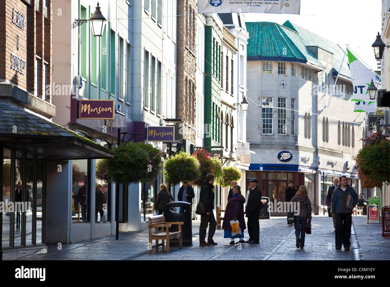 Broad Street, St Helier, Jersey, Channel Islands, UK - Stock Image