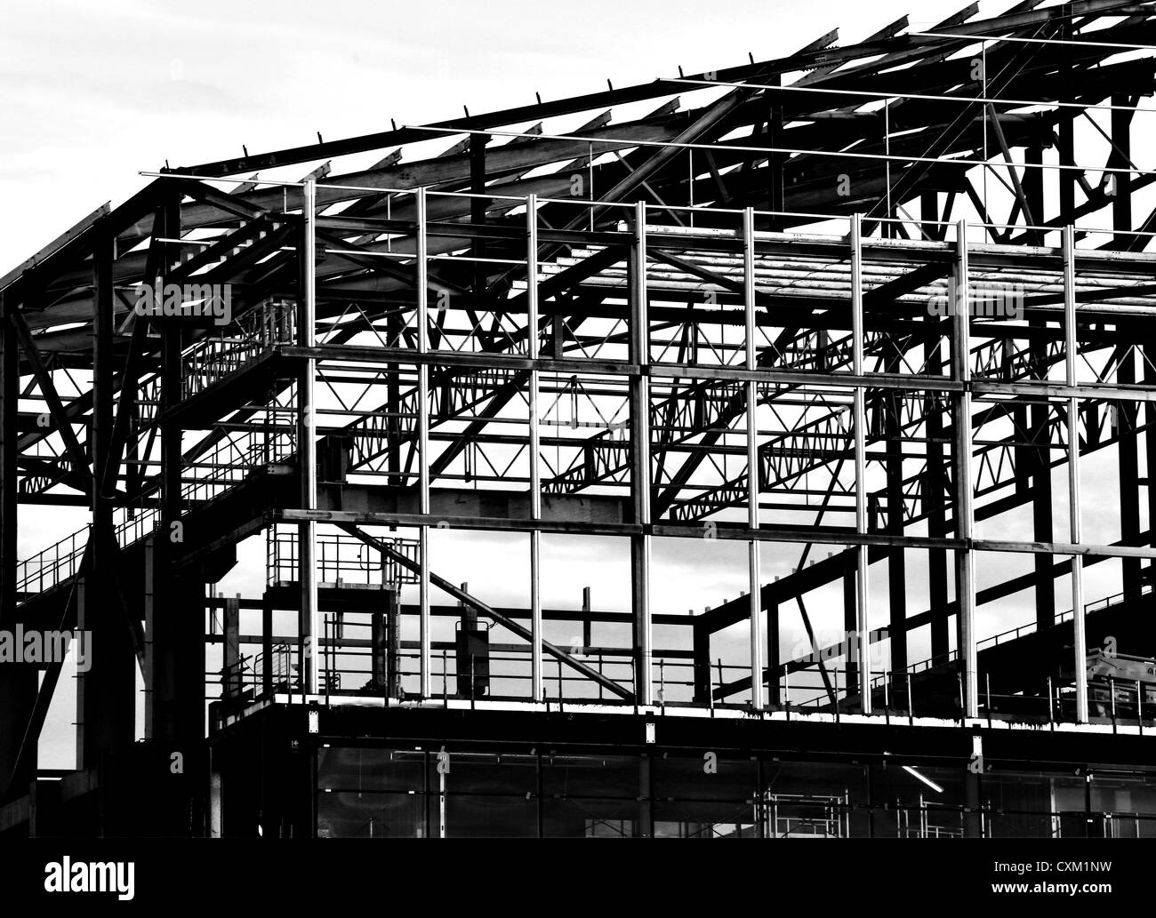 bw construction Stock Photo