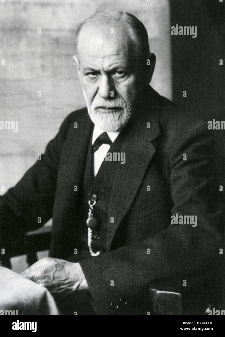 SIGMUND FREUD  (1856-1939) Austrian neurologist and founder of psychoanalysis in 1922 - Stock Image