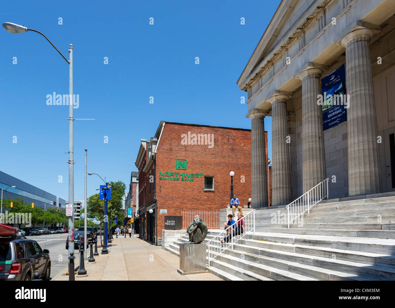 Erie Art Museum on State Street in downtown Erie, Pennsylvania, USA - Stock Image