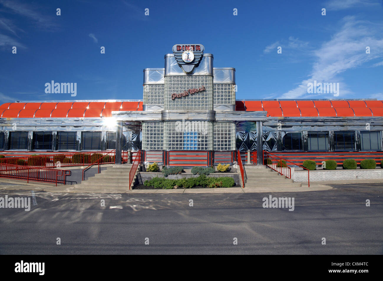 The iconic art deco style Park West diner a well known traditional ...