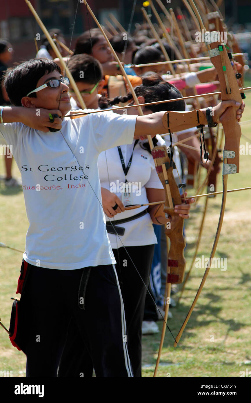 Archery compaction - Stock Image