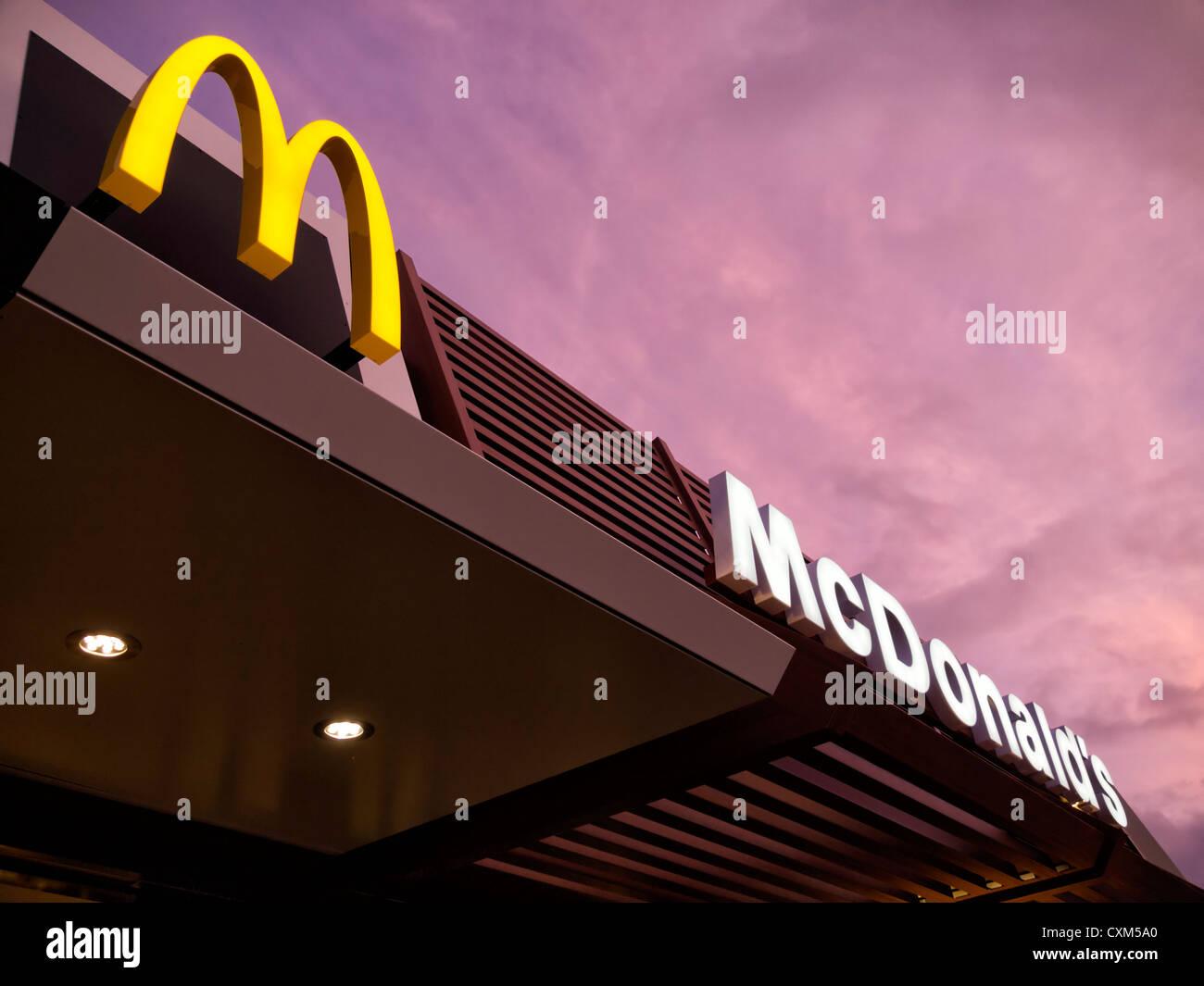 McDonald's restaurant sign - Stock Image