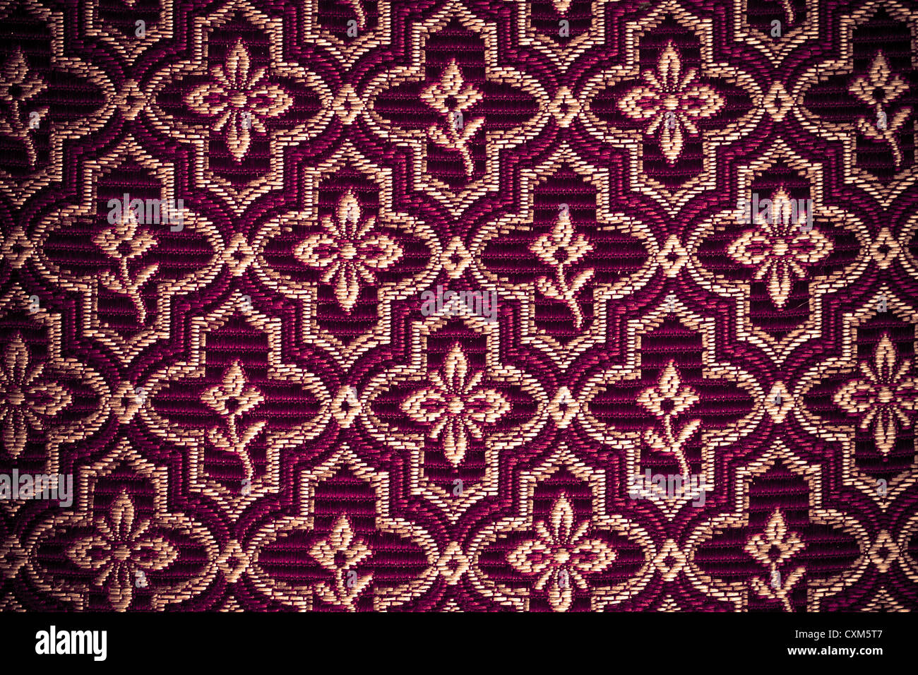Vintage style upholstery fabric - Stock Image