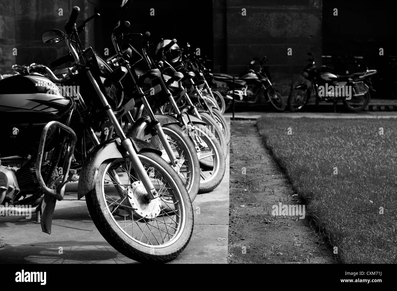 Motorbikes at Agra Fort - Stock Image