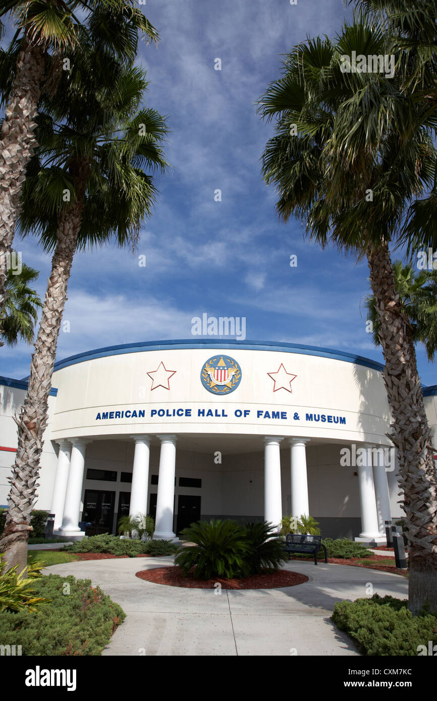 american police hall of fame and museum Florida USA - Stock Image