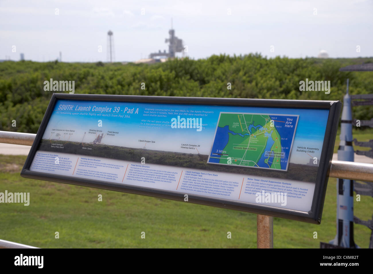 launch complex pad 39a at the Kennedy Space Center Florida USA - Stock Image