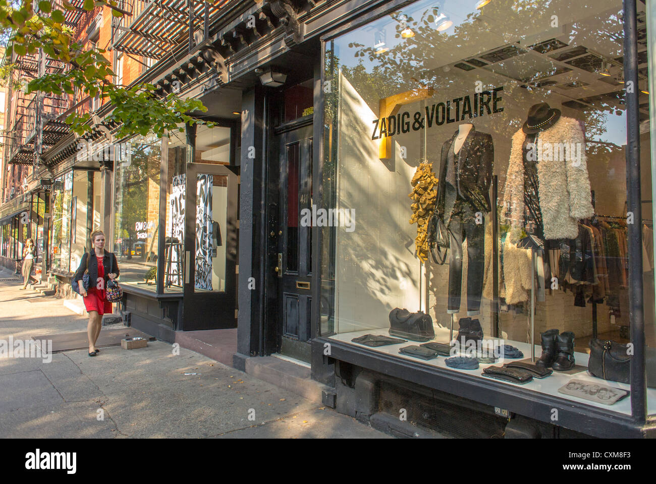New York City Ny Usa Street Scenes Woman Shopping Luxury French
