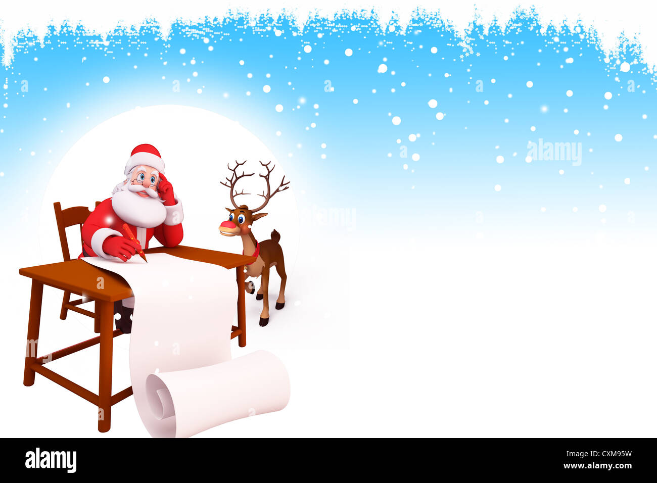 santa claus with reindeer and gifts on iceland Stock Photo: 50848053 ...