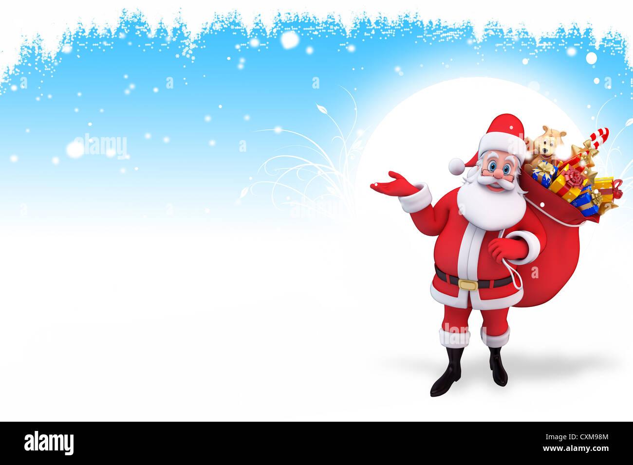 Santa Sleigh Reindeer Deer Gifts Iceland Blue Christmas Stock Photos ...
