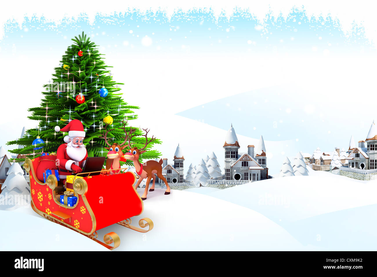 Christmas Tree Santa Iceland Stock Photos & Christmas Tree Santa ...