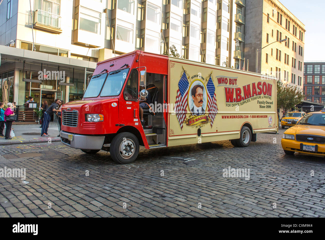 W B Mason Delivery Truck High Resolution Stock Photography and