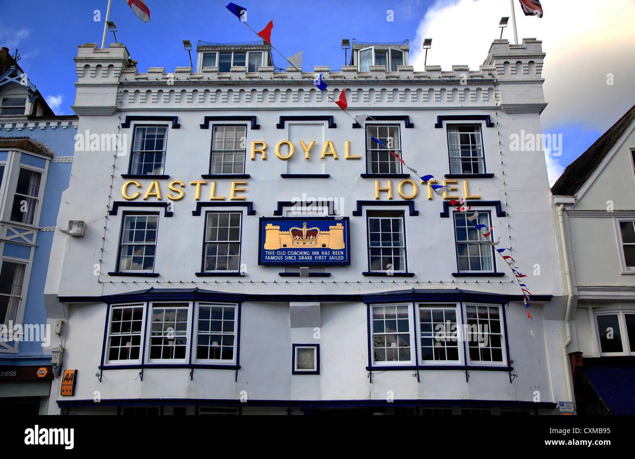 Royal Castle Hotel Dartmouth Devon England. Stock Photo