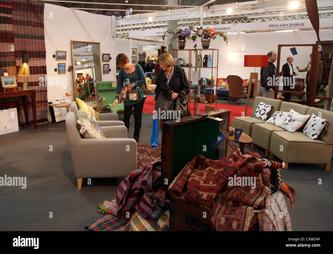 Duff Tisdale stand, Irish Antique Dealers 47th Annual Fair, Dublin - Stock Image