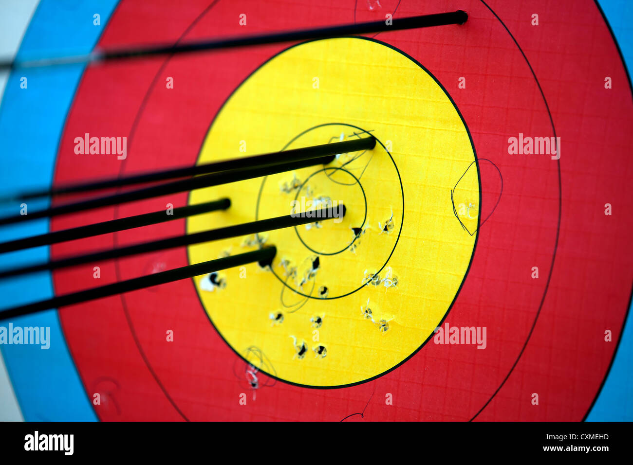 Target,Archery,Aspirations,Accuracy,Circle,Descriptive color,Concepts,Competition,Sports,Hitting,Hole,Paper,Target, Stock Photo