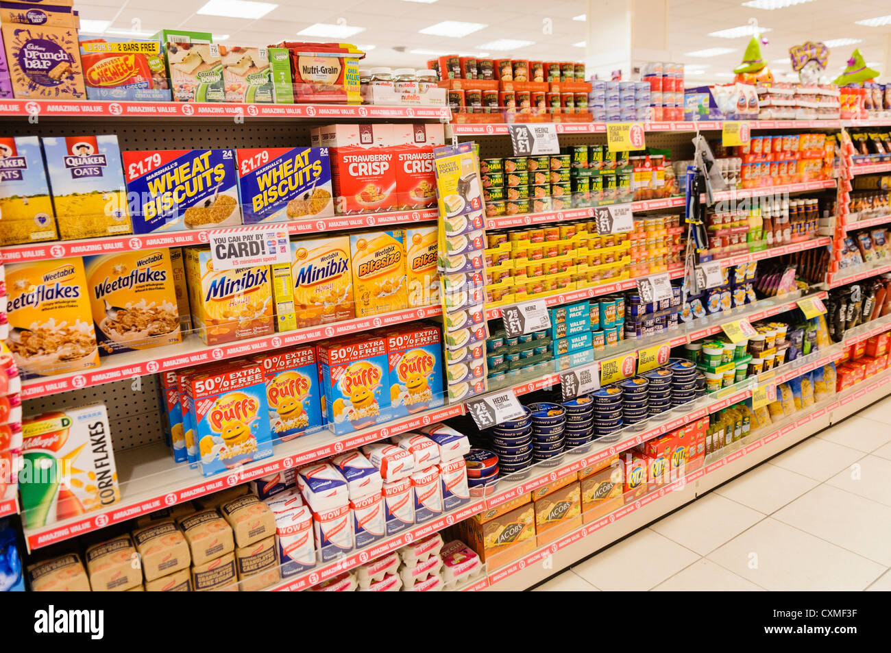 food products on sale on the shelves in a poundland shop store stock photo 50852691 alamy. Black Bedroom Furniture Sets. Home Design Ideas