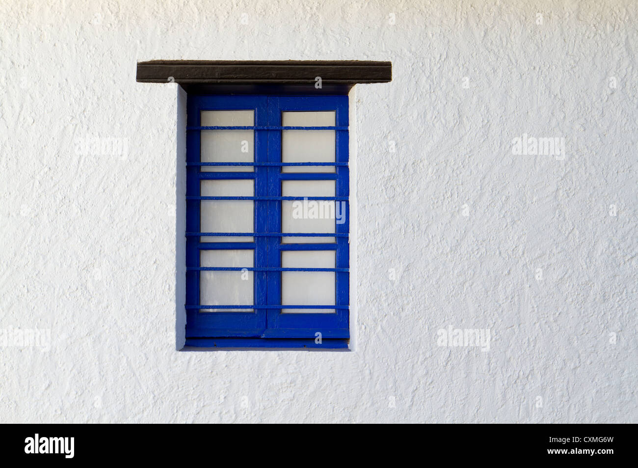 Blue Painted Window Frame Stock Photos & Blue Painted Window Frame ...