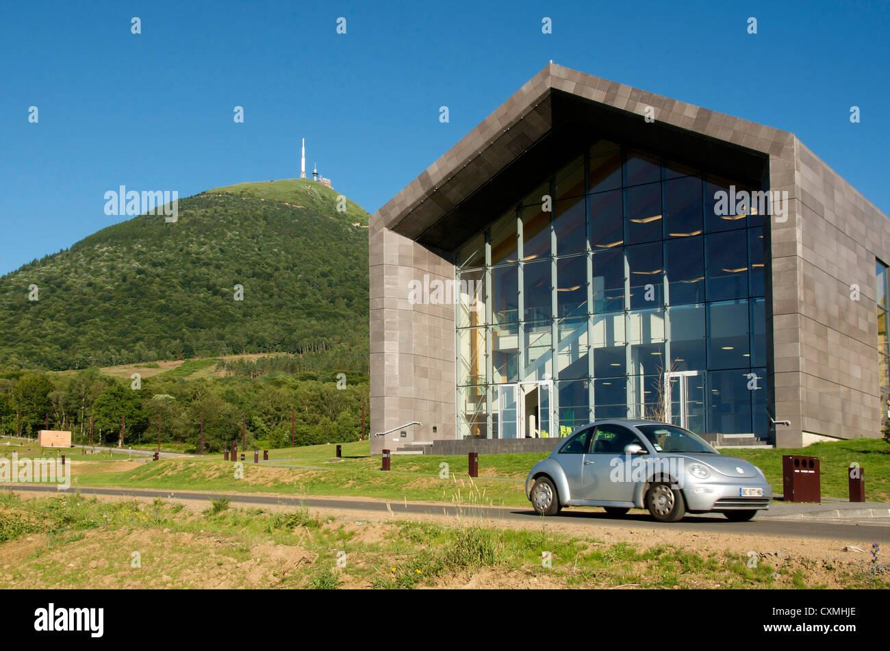 Station of Panoramique des Domes, tourist train of Puy de Dome. Park Regional of Auvergne volcanoes. France - Stock Image