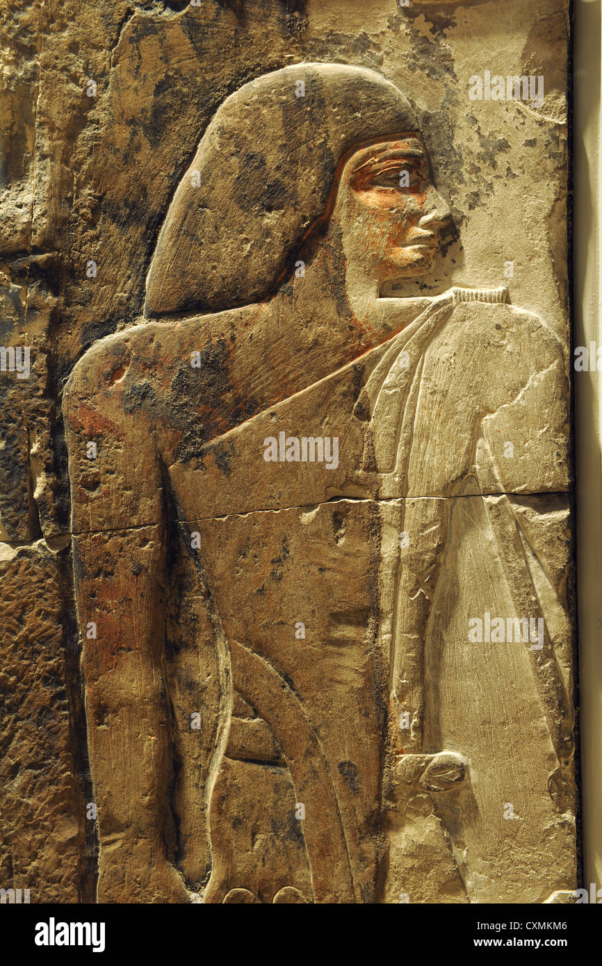 CHICAGO, IL – MARCH 18: Egyptian Hieroglyphic at the Art Institute of Chicago on March 18, 2012 in Chicago, Illinois - Stock Image