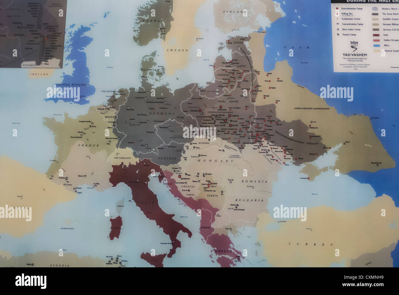 Nazi Map Of Europe.Old Map Of Europe Nazi Concentration Camps U N United Nations