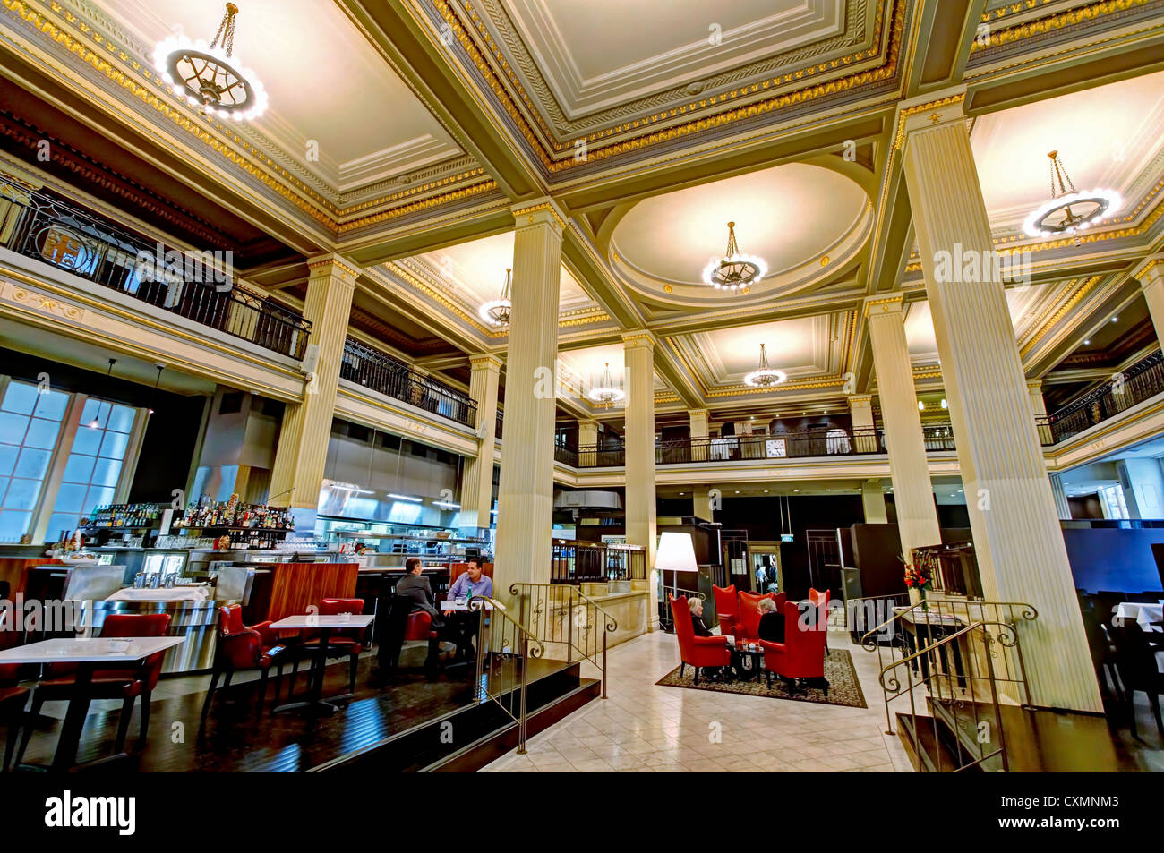 Treasury Restaurant in (Former) Bank of Australasia Building | Collins Street, Melbourne - Stock Image