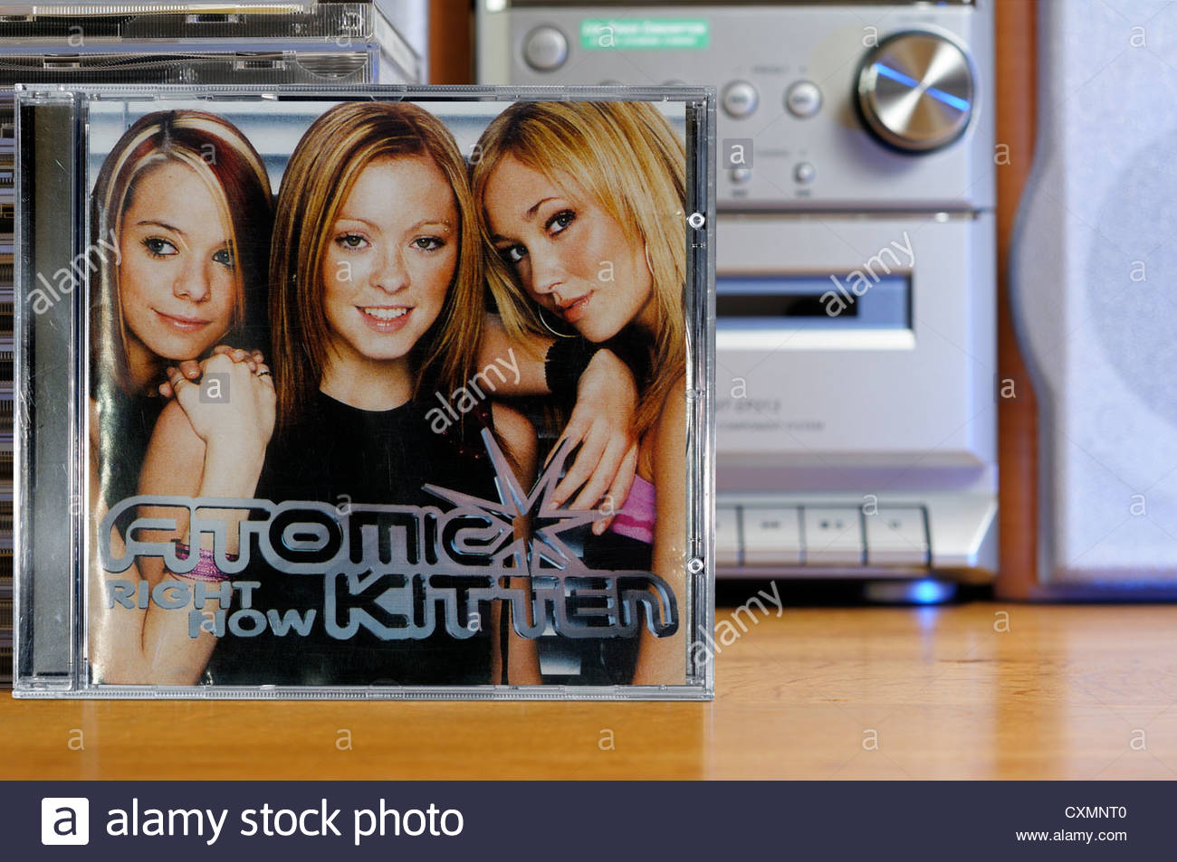 Atomic Kitten First Album Right Now Piled Music Cd Cases England Stock Photo Alamy